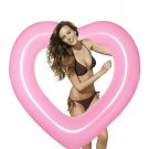 Heart Inner Tube Pool Float Raft Inflatable Beach Water Toy Durable Gift Her New