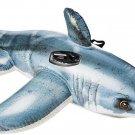 Kids Pool Shark Toy Ride On Water Swim Float Beach Raft Fun Boy Girl Gift New