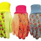 Garden Gloves Work Women Soft Jersey Pack Set Lot 3 Yard Work Plant Weeds NEW