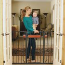 Extra Tall Walk Thru Gate Regalo Home Accents Hardwood Steel Baby Safety New