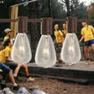 String Lights 10 Clear Bulbs Yard Patio Wedding Rustic Decor Party Decor New