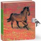 Horse Diary Key Set Kids Teen Girl Boy Gift Animal Equine Writing Book New
