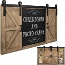 Rustic Barn Door Chalkboard Magnetic Photo Picture Frame Large Wall Decor New