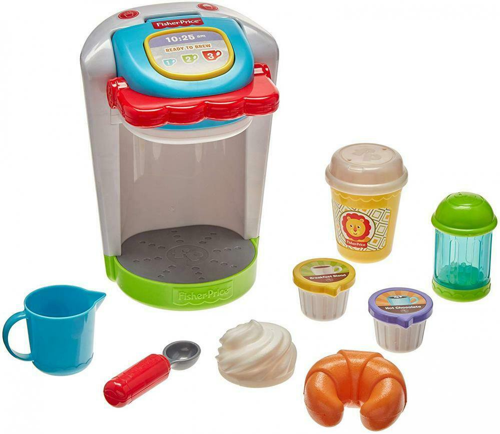 Kids Toy Coffee Maker Play Set Kitchen Pretend Toddler Fisher Price Gift New