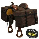 Saddle Panniers Brown With PolyPac Inserts Hunting Camping Equine Trail Riding