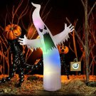Inflatable Ghost Halloween Spooky Yard Outdoor Decoration Blow Up LED Light Up