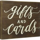 Gift Cards Table Sign Wedding Party Rustic Wooden Box Decor Brown Gift New