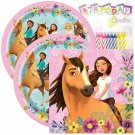 Spirit Horse Party Pack Paper Plates Napkins Candles Girl Tableware Serve 16 New