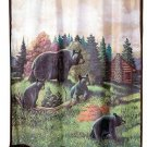 Black Bear Shower Curtain Bathroom Decor Cabin Lodge Rustic Animal Wildlife New