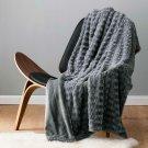"Bedsure Faux Fur Throw Blanket Fleece Bed 50""x60"" Solid Grey, Super Soft &..."