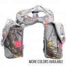 Horse Saddle Bag Lunch Bottle Holder Western Trail Riding Camo Equine New