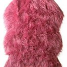 "Area Rug Faux Fur Pink Taffy 24x36"" Home Decor Bedroom Girl Nursery Soft New"
