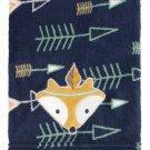 "Aztec Baby Blanket Arrows Fox Coral Fleece Nursery Decor Boys Gift 30 x 40"" NEW"