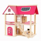 Dollhouse Play Set Pretend 19 Piece Furniture Wooden Kids Toy Girl Gift New