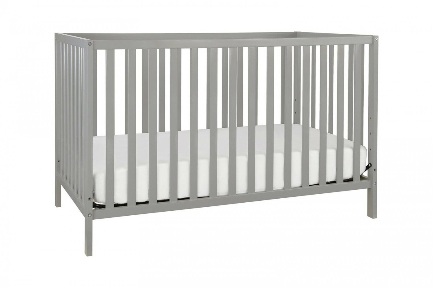 Baby Crib Bed 3 in 1 Convertible Grey Boy Girl Newborn Nursery Day Toddler New