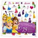 Disney Princess Tattoos 75 Temporary Girls Kids Toddlers Snow White Arial New