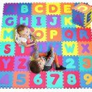 Kids Foam Puzzle Play Mat Area 36 Tile Alphabet Number Learn Educational New