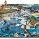 Kids Mini Dinosaurs Water Hole Puzzle Play Set Animal Pretend Boy Gift New