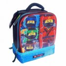 Lego Ninjago 4 Character Dual Compartment Insulated Lunchbox NWT
