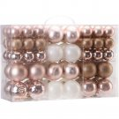 Christmas Tree Ball Ornaments 86 Piece Rose Gold Decoration Shatterproof New