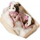 Baby Monthly Photo Prop Girl Newborn 0 -3 Months Crochet Horse Set Brown New