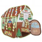 Kids Gingerbread Play House Hut Tent Pretend Toddler Toy Indoor Outdoor Gift New