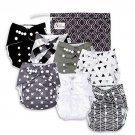 Baby Cloth Diapers Set 7 7 Bamboo Inserts Toddler Boy Girl Unisex Reusable New