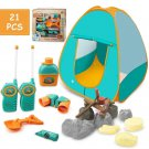 Kids Camp Playset Tent Campfire Walkie Talkies Telescope Pretend Gift Toy New
