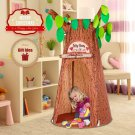 Kids Forest Hollow Tree House Forest Tent Hut Pretend Toy Boy Girl Gift New