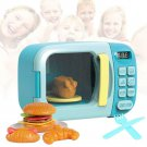 Kids Microwave Toy Play Set Food Pretend Kitchen Toddler Boy Girl Gift New