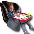 Kids E-Z Travel Lap Desk Tray by Modfamily - Universal Fit for Car Red/Gray