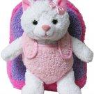 Kids Backpack Book Bag Plush Stuffed Animal Cat Kitten Toddler Girl Gift New