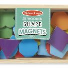 Wooden Shape Color Magnets Magnetic Box Melissa Doug Kids Toys 25 Learn New