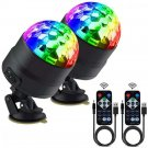 Disco Ball Party Lights Portable Rotating Sound Activated LED 2 Pack