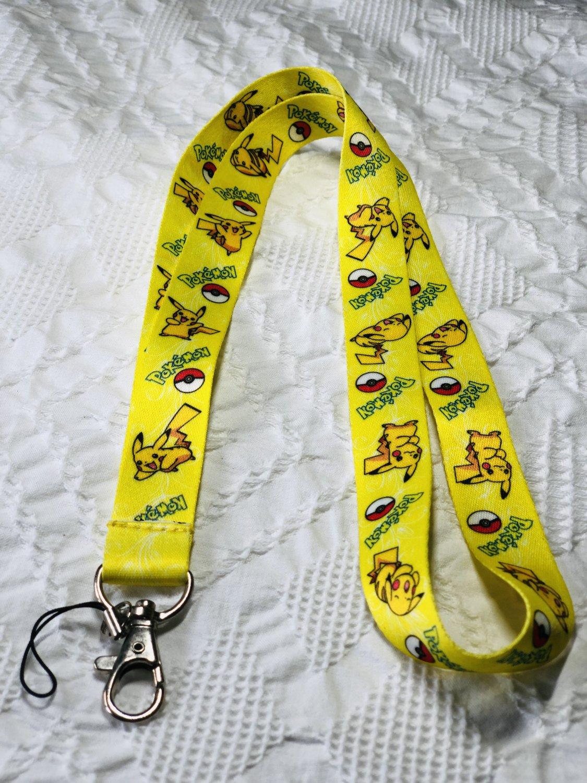 Pikachu Lanyard Keychain Necklace Pokemon