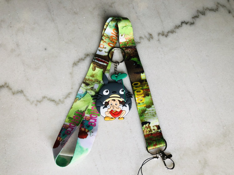 Ghibli Lanyard with Keychain Anime