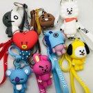 Kpop Bangtan Boys Keychain Figurines BTS