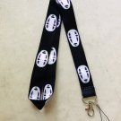 No Face Lanyard Keychain Necklace  Spirited Away Anime
