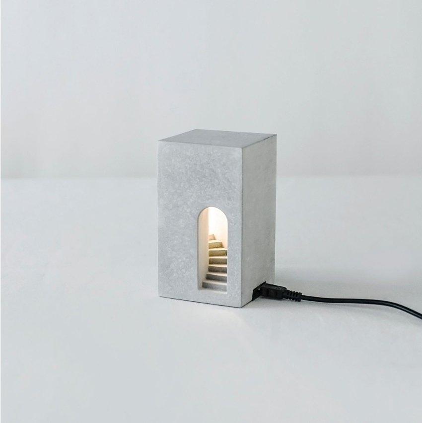 Handmade concrete lamp, desktop decor, table lamp, home decor and gifts(Light)