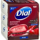 Dial Cranberry and AntiOxidant Glycerin Soap - 3bars/pack