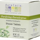 Aura Cacia Purifying Aromatherapy Shower Tablets Eucalyptus -- 3 Tablets