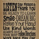 Teacher Created Resources 7403 Burlap Classroom Rules Positive Poster