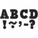 """Teacher Created Resources Black Stitch Bold Block 3"""" Magnetic Letters"""