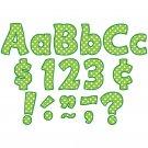 Lime Polka Dots Funtastic Font 4In