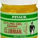 Pinaud Clubman hair styling gel, super hold - 16 oz