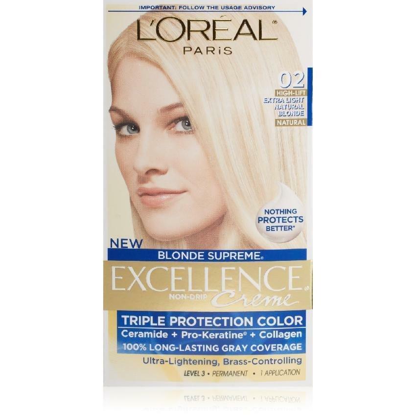 L'Oreal Paris Excellence Creme Hair Color, Extra Light Natural Blonde 02