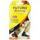 Futuro Restoring Dress Socks for Men, Black, Large, Firm (20-30 mm/Hg)