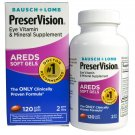 Bausch & Lomb PreserVision Eye Vitamin & Mineral Supplement, 120-Count Soft Gels