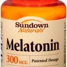 Sundown Naturals Melatonin 300 mcg, 120 Tablets