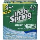 Deep Action Scrub Deodorant Soap by Irish Spring, 3 Count
